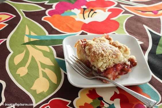 inspired by charm reviews: Strawberry Rhubarb Coffee Cake :: My Coffee Moment