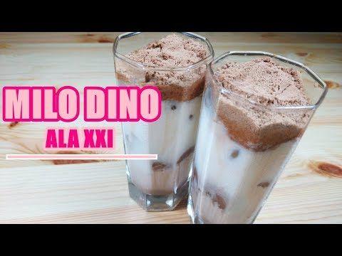 Recipe Milo Dino Rasanya Hampir Mirip Minuman Ala Cafe Xxi Youtube Makanan Resep Minuman Resep