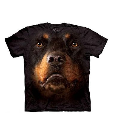 Another great find on #zulily! Black Rottweiler Face Tee - Toddler & Kids #zulilyfinds