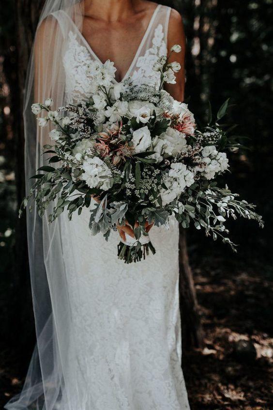 Gorgeous White And Greenery Wedding Bouquet Wedding Weddingideas