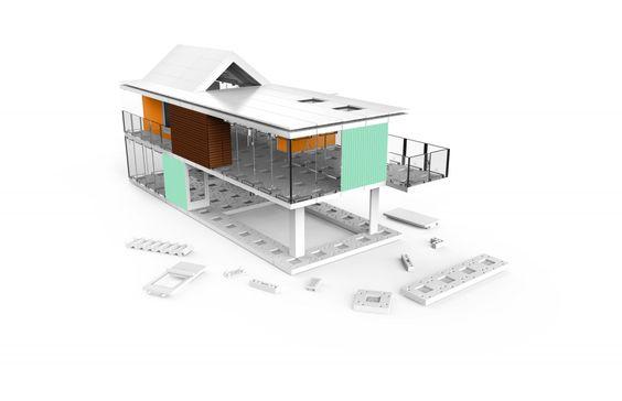 Mit Arckit Go kann jeder seine Miniatur-Traumvilla bauen  Das modulare Stecksystem Arckit Go lässt uns kleine Traumhäuser bauen | WIRED Germany