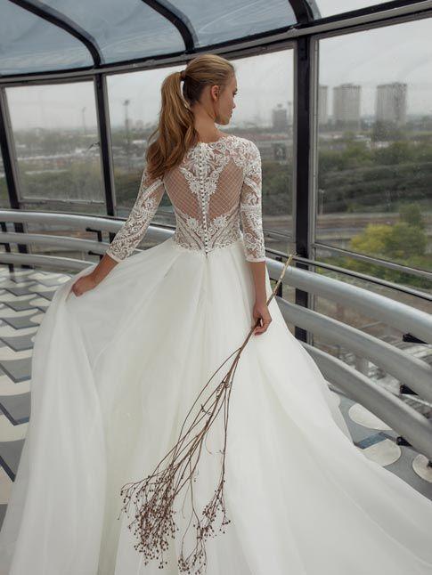 Spitze hochzeitskleider langarm mit Brautkleider A