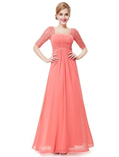 Ever Pretty Womens Half Sleeve Square Neckline Evening Dress 4 US ...
