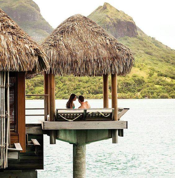 Four Seasons Resort Bora Bora | Follow us on Instagram @RomanceTravel 💋