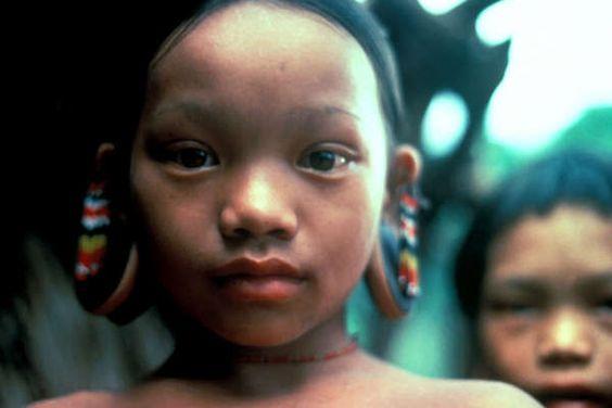 Les Penan de Bornéo (Sarawak) Les nomades ou anciens nomades de Bornéo comptent environ une trentaine de groupes distincts pour une population totale de 20 000 personnes. D'origine mongoloïde et parlant des langues austronésiennes, ces groupes se retrouvent à Sarawak en Malaisie, dans l'État de Brunei Darussalam et dans les trois provinces les plus au nord de Kalimantan en Indonésie.