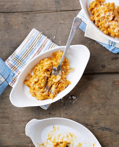 Vegan butternut squash macaroni & cheese. Oil-free, nondairy, can be gluten free.