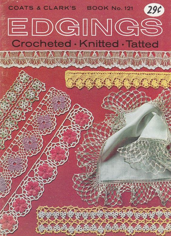Edgings Pattern Booklet - Vintage Crochet, Knitting and Tatting Patterns