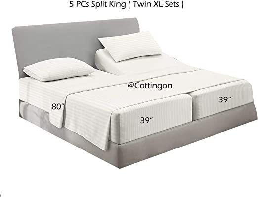 Split Sheet Sets for Adjustable Bed 5 Pc Split King Sheets Twin XL