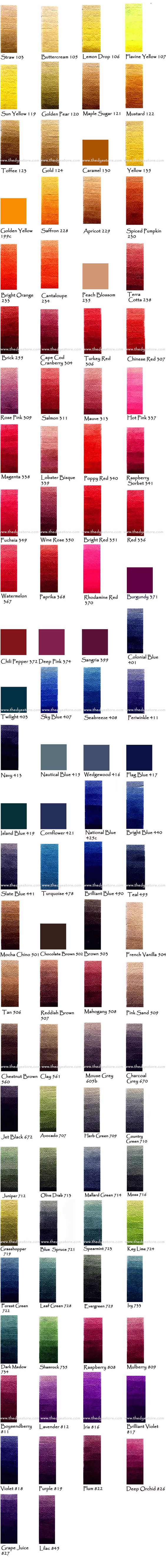 Color chart for pro chem dye dying to dye pinterest colour color chart for pro chem dye dying to dye pinterest colour chart chart and patterns nvjuhfo Images