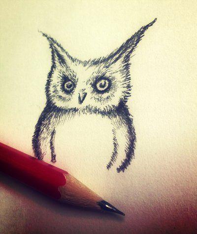 Cute owl by eamanee.deviantart.com on @DeviantArt