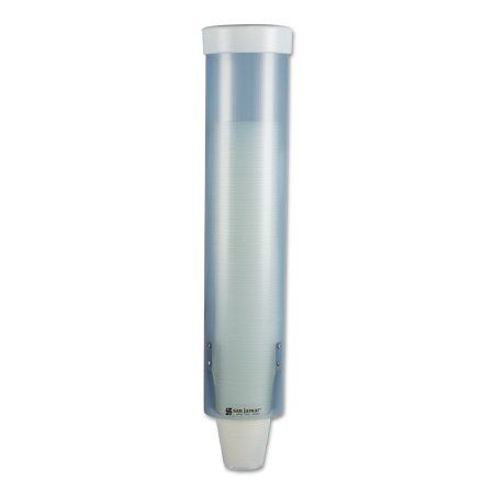 Water Cup Dispenser Adjustible Wall Mounted Plastic White