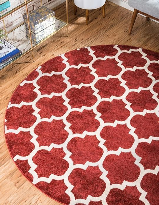 Red Trellis Area Rug Unique Loom Area Rugs Round Area Rugs