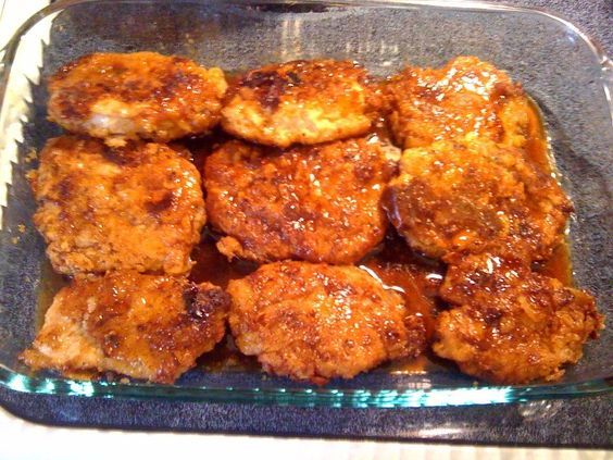 Crunchy Honey Garlic Pork Chops!