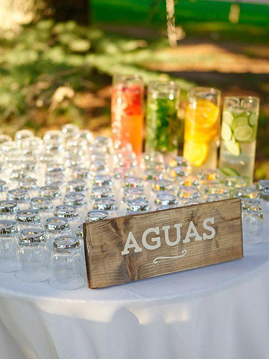 buffet aguas boda www.bodasdecuento.com