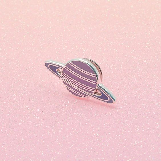 Pink & purple hued hard enamel planet pin, with butterfly clutch on the reverse. Teeny enough to adorn your bag, lapel, pocket or whatever you fancy.