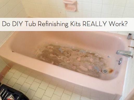 Do DIY Bathtub Refinishing Kits Really Work? | Bathtubs, Diy ...