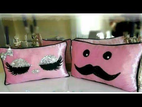 اسهل طريقة لصنع مخدات ديكور عيون روعة لغرفتكeasy Diy Pillows Youtube Cushion Embroidery Diy Pillows Eyelash Pillow