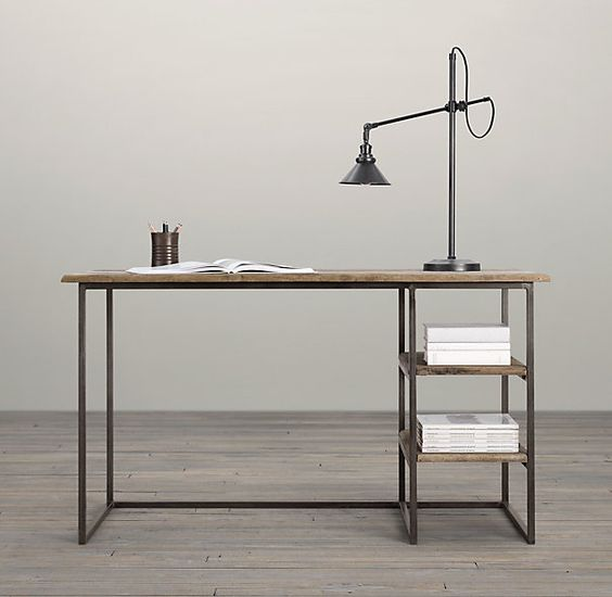 Fulton restoration hardware and desks on pinterest for Bureau hardware
