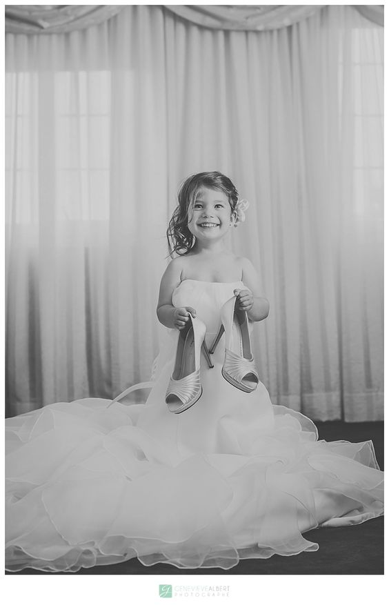 Daughter in mom's wedding dress  Mariage Militaire / Military Wedding – Sophie and Daniel / Hawkesbury by Genevieve Albert Photographer