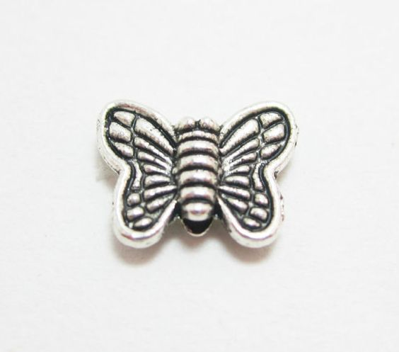 10 Silver Butterfly Metal Beads 4293 by OverstockBeadSupply, $2.60