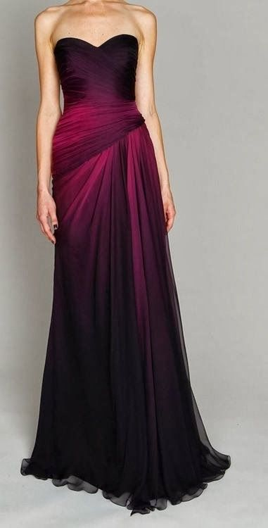 Stylish plum ombre gown fancy dresses pinterest for Purple ombre wedding dress