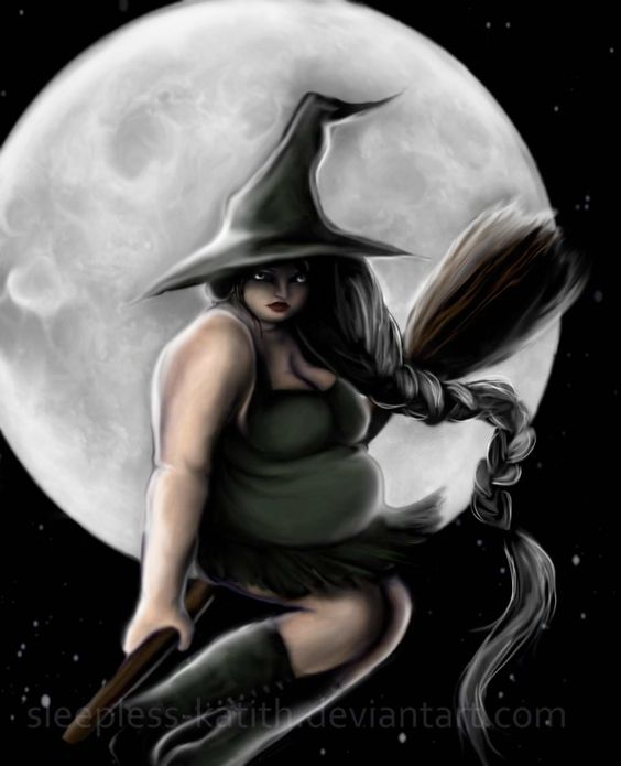 Fat: Witch by sleepless-katith on DeviantArt. Not all witches are skinny bitches 2