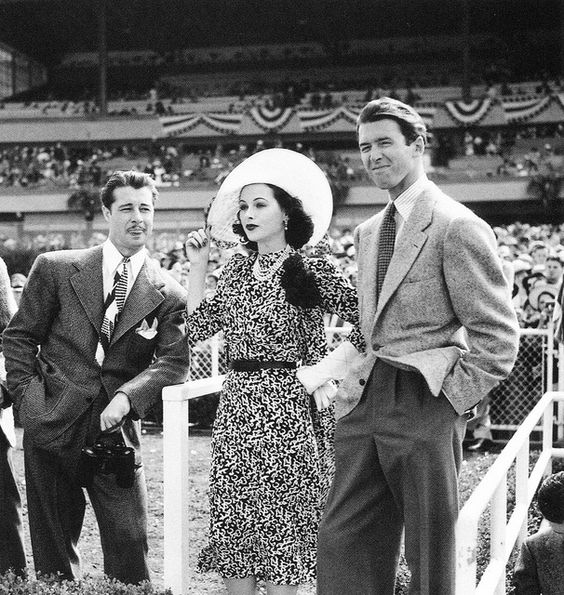 Don Ameche, Hedy Lamarr and James Stewart by classic film scans, via Flickr