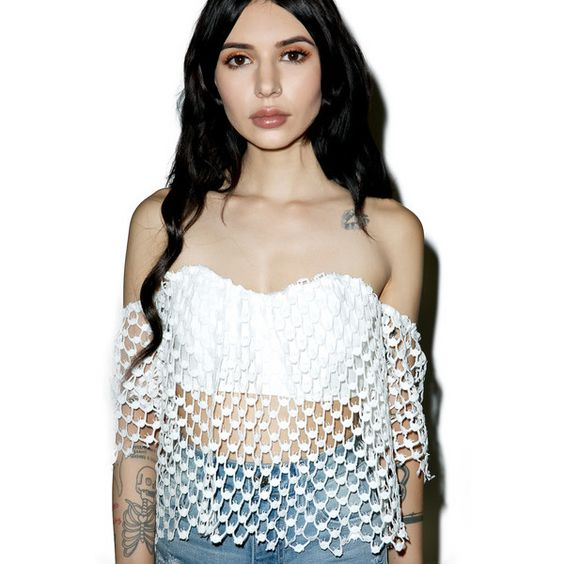 Veronica Crop Top ($24) ❤ liked on Polyvore featuring tops, short sleeve crop top, white sweetheart top, draped tops, sweetheart crop top and white short sleeve top