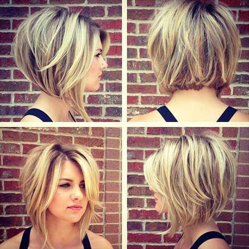 18 Fresh Layered Short Hairstyles For Round Faces 1 Layered Stacked Bob Haircut Short Hair Styles 2017 Short Hair Styles For Round Faces Thick Hair Styles