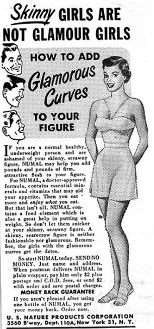 More vintage ads selling weight gain!