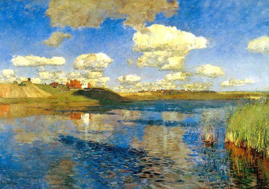 Левитан картина Озеро. Русь: