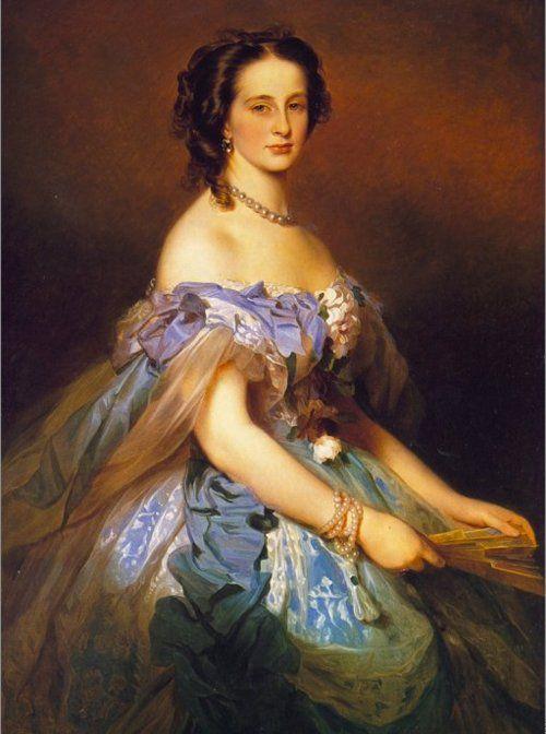 costumedramas: Alexandra de Altenburg, grã-duquesa da Rússia (1830-1911), pintado por Franz Xaver Winterhalter em ca.  1850.