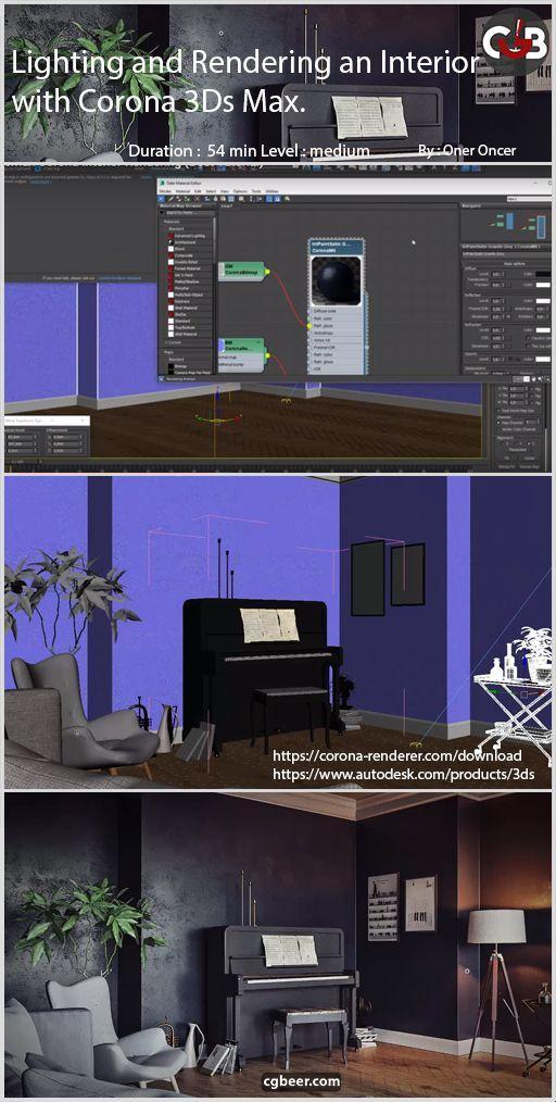 3ds Max Corona Interior Rendering 3ds Max Design 3ds Max Tutorials Interior Rendering