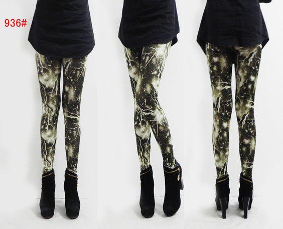 2013 Ladies' leggings Lightning Ladies Leggings CL0328 $11.2