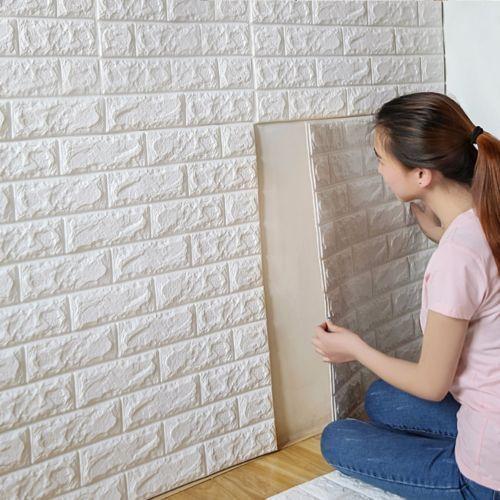 3d Diy Xpe Brick Wall Sticker Self Wallpaper Adhesive Sticker