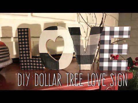 Diy Dollar Tree Love Sign I Know I Know Youtube Diy Dollar Tree Decor Dollar Tree Crafts Diy Valentines Decorations