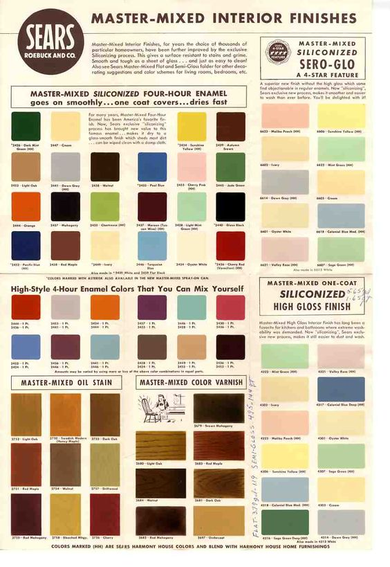 1950's and 60's paint colors