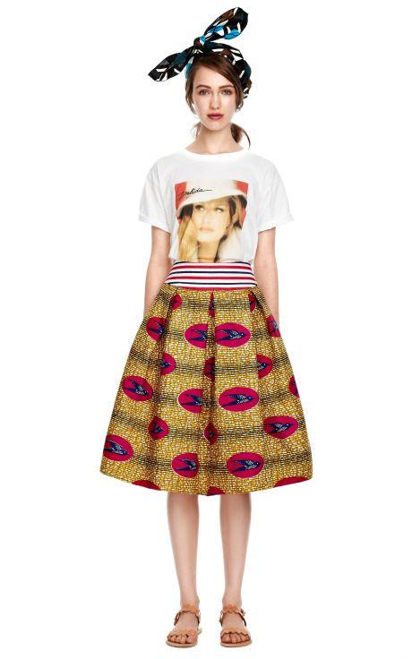 M'O Exclusive: Geometric Waxed Cotton Headpiece by Stella Jean - Moda Operandi