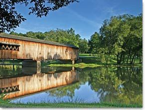Watson Mill Bridge State Park in Comer, GA is one of the most picturesque state parks in Georgia. Watson Mill Bridge contains the longest covered bridge in the state, spanning 229 feet across the South Fork River.