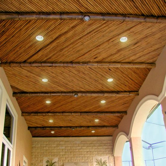 Solid Bamboo Safari Thatch Bamboo Ceiling Bamboo Roof Rustic Ceiling Lights