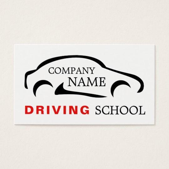 Black Car Logo Driving School Instructor Business Card Zazzle Com Car Logos Driving Instructor Driving School