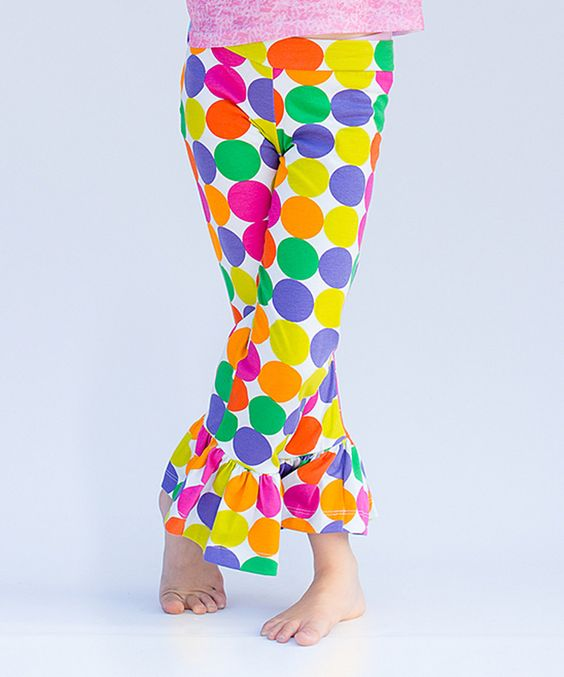 This Kids Fly Too Rainbow Dot Ruffle Pants - Infant, Toddler & Girls by Kids Fly Too is perfect! #zulilyfinds