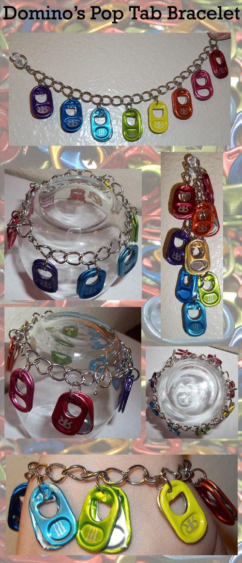 Rainbow Pop Tab Bracelet by ~domino626 on deviantART: