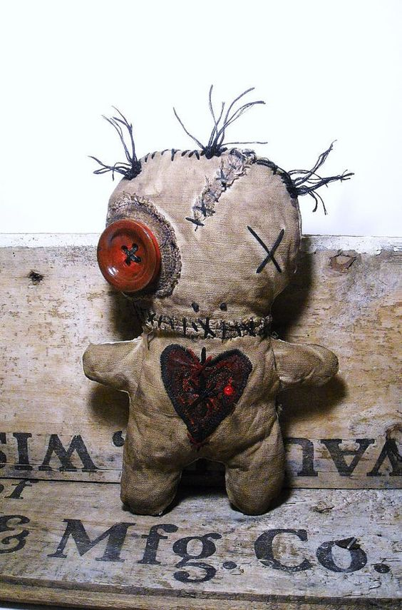 Handmade Voodoo Doll Voodoo Voisin by JunkerJane