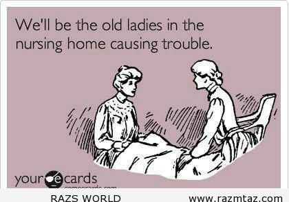 old ladies causing trouble