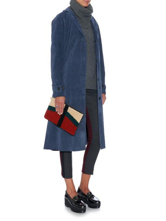 Rhone notch-lapel suede coat | Simon Miller | MATCHESFASHION.COM