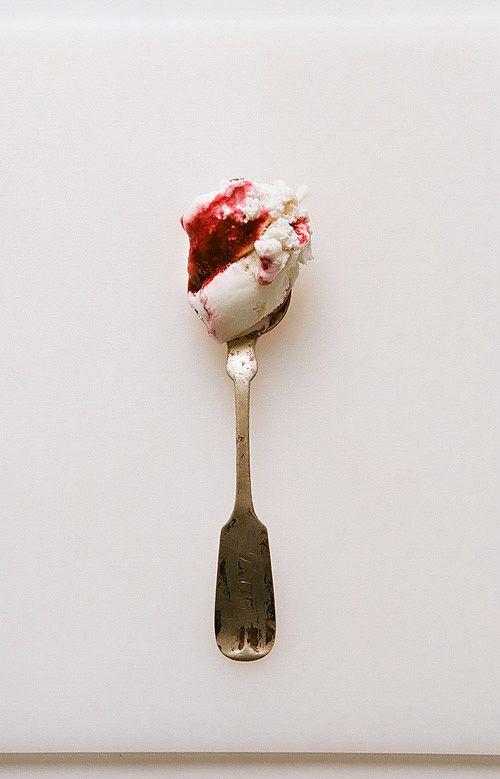 sweet corn and blackberry ice cream