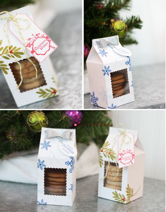 Mini Milk Carton Treat Boxes with Free Downloadable Template