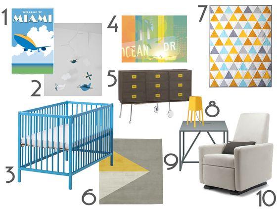 Summery Miami vibe modern nursery