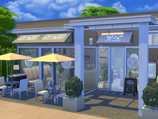 Restaurant Modern Times Created By Flubs Sims Building Sims 4